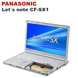 中古パソコン 中古ノートパソコン Panasonic Let's note CF-SX1 ノートPC 【第二世代Corei5 /12.1型ワイド/メモリ4GB/新品SSD 120GB 1年保証付き/DVDドライブ/HDMI/USB3.0/Windows10 Pro 64bit/ Office付き】 中古 送料無料