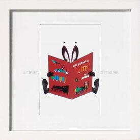 アートパネル アートポスター 絵画 インテリア ポスター タペストリー 壁掛け アートフレーム ウォールアート アートボード インテリアアート モノトーン モノクロ アンティーク シンプル 北欧 おしゃれコロボックル Book rabbit_b