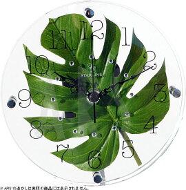 壁掛け時計 掛け時計 ウォールクロック TICKAWAY アートリーフクロック モンステラ 電波時計ではありません おしゃれ シンプル 北欧 木製 かわいい 造花 デザイナーズ アンティーク モダン インテリア 高級 贈答品 新築祝い
