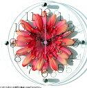 【壁掛け タペストリ専門店】【ウォールアート専業】掛け時計/TICKAWAY アートフラワークロック レッド(壁掛け時計/…