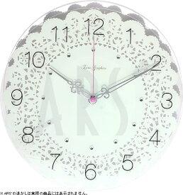 壁掛け時計 掛け時計 ウォールクロック TICKAWAY ガラスクロック 電波時計ではありません おしゃれ シンプル 北欧 木製 かわいい 造花 デザイナーズ アンティーク モダン インテリア 高級 贈答品 新築祝い