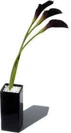 インテリアグリーン フェイクグリーン 造花 人工観葉植物 アートグリーン アートフラワー イミテーショングリーン インテリアプランツ リーフアート 造花 鉢 光触媒 消臭 抗菌 空気清浄カラー ブラック
