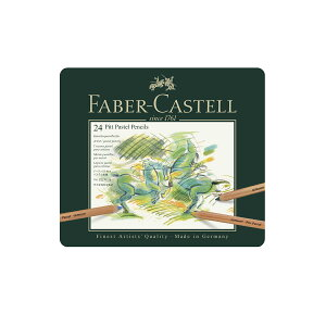 【先着100名様限定 FABER-CASTELLトートバッグand練消しプレゼント該当商品】ファーバーカステル PITTパステル鉛筆 24色 (缶入) 112124 ファーバー カステル faber castell パステル パステル色鉛筆
