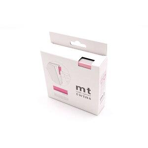 カモ井加工紙 mt tape cutter twins ピンク×グレー MTTC0027 - カモ井 mt mt マスキングテープ マステ マスキング 紙テープ 和紙テープ 貼って剥がせる はってはがせる 貼ってはがせる はがせるテー