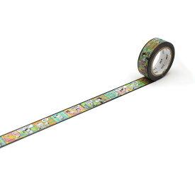 【ネコポス可】カモ井加工紙 mt Peanuts パターンのコマ MTPNUT03 (15mm×7m)マスキングテープ マステ 紙テープ 和紙テープ 貼って剥がせる はってはがせる クラフト デザイン ラッピング