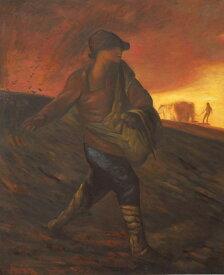 特価油絵 ミレーの名作「種をまく人」