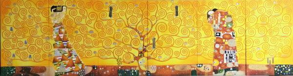 漆絵 グスタフ・クリムトの名作「生命の樹」