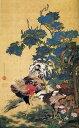 漆絵 伊藤若冲の名作_紫陽花双鶏図
