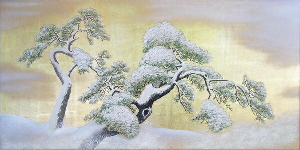 漆絵 円山応挙の名作「雪松図」
