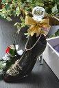 シンデレラシューレッド カシス 誕生日プレゼント 名入れ 彫刻 スワロフスキーデコ仕上げ!ブリザーブドフラワー付き …