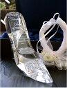 プロポーズ プレゼント アイテム シンデレラのガラスの靴!ガラスの靴に名入れ記念日を彫刻。リングピロー加工ありブ…