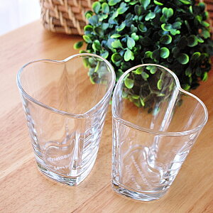 ハート&ハートペアグラス