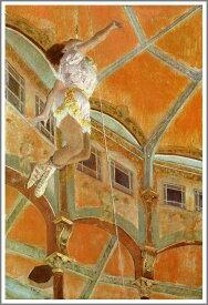 複製画 送料無料 プレミアム 学割 絵画 油彩画 油絵 複製画 模写エドガー・ドガ「フェルナンド座のララ嬢」 F12(60.6×50.0cm)サイズ プレゼント ギフト 贈り物 名画 オーダーメイド 額付き