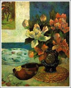 複製画 送料無料 プレミアム 学割 絵画 油彩画 油絵 複製画 模写ポール・ゴーギャン「マンドリンのある静物」 F8(45.5×38.0cm)●プレゼント・ギフト・風水にも人気な名画の絵画(油絵複製画)