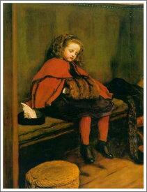 複製画 送料無料 プレミアム 学割 絵画 油彩画 油絵 複製画 模写 エヴァレット・ミレイ「二度目のお説教」 F6(41.0×31.8cm)サイズ プレゼント ギフト 贈り物 名画 オーダーメイド 額付き