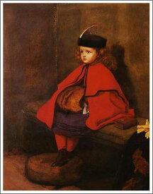 複製画 送料無料 プレミアム 学割 絵画 油彩画 油絵 複製画 模写 エヴァレット・ミレイ「最初のお説教」 F6(41.0×31.8cm)サイズ プレゼント ギフト 贈り物 名画 オーダーメイド 額付き