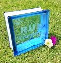 ペット 墓 墓石 プレート ガラス ペット墓 ペット用墓 ガラスブロック 記念品 刻印 青 緑 ピンク より選択 デザイン …