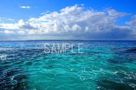 A1サイズ ポスター インテリア アート 写真 Interior Art Poster風景写真ポスター写真ポスター 沖縄 北大東島 美しい青の世界 osp-k6
