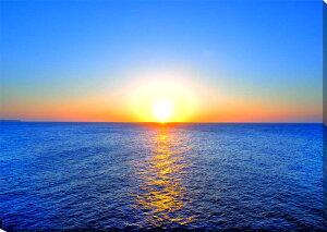 風景写真パネル 沖縄北大東島の海と太陽 夕日 100×65.2cm インテリア ポスターと違う,タペストリー 壁掛け,壁飾り。風水 絵画 アート インテリア アートパネル,ポスター 風景,新築,結婚祝い,贈
