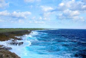 送料無料 ポストカード 沖縄 波照間島 日本最南端の岬 高那崎 風景 写真 ギフト お祝い プレゼント お手紙 旅の思い出 美しい風景写真のポストカードや絵はがきはいかがですか? クリスマ
