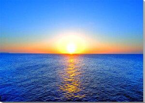 風景写真パネル 沖縄北大東島の海と太陽 夕日 80.3×53.0cmKTD-025-M250 インテリア ポスターと違う,タペストリー 壁掛け,壁飾り。風水 絵画 アート インテリア アートパネル,ポスター 風景,新築,結