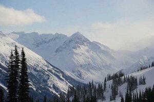 ポストカード5枚で【送料無料】 ポストカード 絵葉書 絵はがき カナダ ウィスラーの雪山 風景 写真 ギフト お祝い プレゼント お手紙 旅の思い出 PST-163