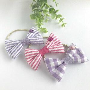 【送料無料】ヘアゴム くるみボタン キッズ 子ども ヘアアクセサリー 花 バラ 刺繍 女の子
