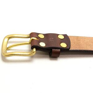 UKサドルレザー35mm幅ハーネス本革メンズベルトゴールド/手に持ったときに分かる厚革のベルトが放つ存在感。/ベルトメンズ/メンズベルト/本革ベルト/厚革ベルト/レザーベルト/