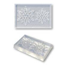 クリアモールド雪の結晶レーシー