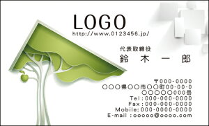 【送料無料】カラーデザイン名刺 ショップカード 印刷 作成【100枚】ロゴ入れ可 建築 不動産 エステート estate001