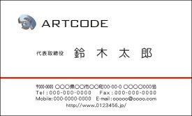【送料無料】カラービジネス名刺 印刷 作成【100枚】ロゴ入れ可 シンプルなビジネス向け名刺 business004