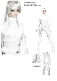 cbbaf619c7ad7 ドールズフィギュア cc61C 1 6フィギュア用衣装 白のボンデージキャットスーツ (DOLLSFIGURE