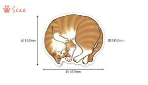 かまって寝マウスパッド[m]猫雑貨/おしゃれかわいい/猫好き/おすすめ/おもしろ/イラスト/グッズ/ねこ/ごめん寝/ポーズ/プレゼント/雑貨メーカー直営店舗/