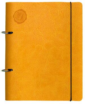 バインダーA5A5-2穴トスカーナリングホルダー[m]ソフト合皮ギフト贈り物プレゼントノート日記帳雑記帳メモ帳ノートブック雑貨文房具デザイン文具A5サイズおしゃれかわいい可愛いA5ノート2穴シリーズ