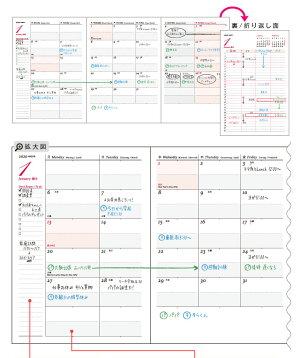 【2018年手帳】(2018年1月始まり)B6サイズ/2倍マンスリーMOD-ボタニカルライフ[m]スケジュール帳手帳のアーティミス