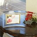 【名入れ無料】お誕生日・長寿祝い・退職祝いなど気持ちを伝える記念品にフォトフレーム・写真立ての贈り物をプレゼントしてみませんか。【フォトフレーム横型 花束柄】【...