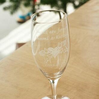 刻的結婚周年快樂或婚禮祝賀禮物,啤酒 (丘比特圖案) 單