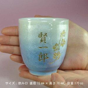 九谷焼銀彩青色のサイズ感