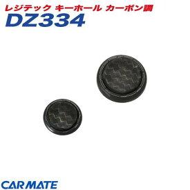 レジテック キーホール カーボン調 静電気除去キーホール カーメイト CARMATE DZ334