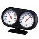 メール便可 カーメイト ツインメーター2 温度計&湿度計 収納型スタンド SZ43