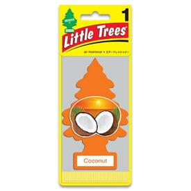 メール便可 バドショップ リトルツリー LittleTrees エアーフレッシュナー 吊り下げ式芳香剤 ココナッツ 消臭 10317
