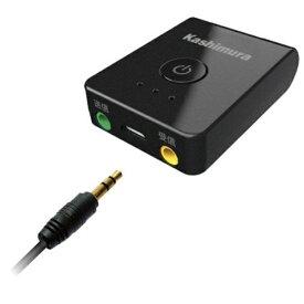 テレビやスマホの音声 コンパクトで持ち運びに便利 ワイヤレス送受信機 BK BL-87 カシムラ