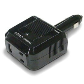 AC100Vコンセント 矩形波 疑似正弦波 DC12V車用 DC/ACインバーター 80W AC+USB2.4A KD-162 カシムラ