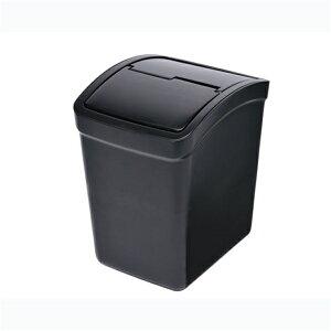ゴミがたくさん捨てられる 転倒防止 左右独立式のスウィングフタ おもり付ゴミ箱 L フタ付 CZ264 カーメイト