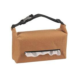 カバー ブラウン ヘッドレスト取付 丈夫な紙 ティシューケース クラフトペーパー DZ465 カーメイト