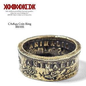 ANIMALIA アニマリア CA1849 Coin Ring -BRASS- animal-ac28 メンズ リング 指輪 アクセサリー 小物 ジュエリー コイン おしゃれ かっこいい ブラス 真鍮 ゴールド 金 ストリート