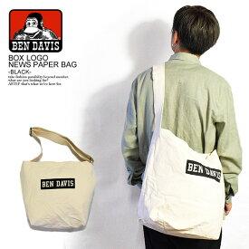 BEN DAVIS ベンデイビス NEWSPAPER SHOULDER TOTE BAG -WHITE/BLACK- メンズ バッグ 鞄 カバン ショルダートートバッグ おしゃれ かっこいい ストリート bendavis ベンデービス