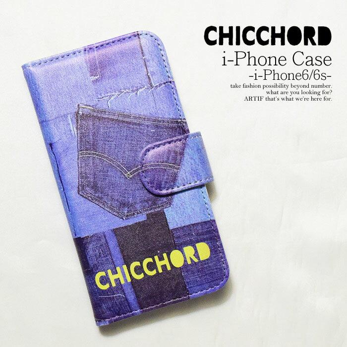 CHICCHORD シックコード i-Phone CASE -i-Phone 6/6s- メンズ アイフォンカバー アイフォンケース アイホンケース スマホ 手帳型 カードホルダー 防水ケース付き chicchord メール便可