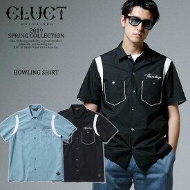 CLUCT クラクト BOWLING SHIRT cluct メンズ シャツ 半袖 ボウリングシャツ ロゴ 刺繍 プリント 送料無料 ストリート