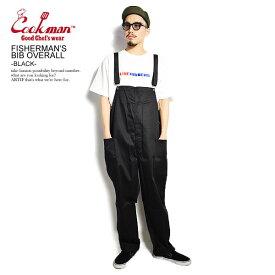 COOKMAN クックマン FISHERMAN'S BIB OVERALL -BLACK- メンズ フィッシャーマンズオーバーオール 送料無料 サロペット パンツ ストリート ファッション